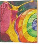 Snail Nirvana Wood Print