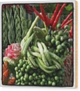 Snake Beans. At The Surin Elephant Wood Print