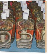 Snake In A Bottle Wood Print