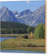 Snake River, Grand Tetons National Park Wood Print