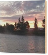 Snake River Sunrise Wood Print