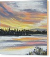 Snake River Sunset Wood Print