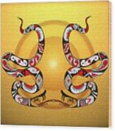 Snakes Homage To Mata Ortiz Wood Print