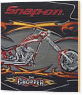 Snap-on Chopper Wood Print