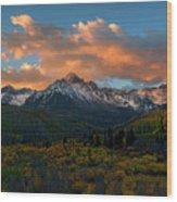 Sneffels Autumn Sunrise Wood Print