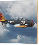 Snj-5  Texan T-6  Smoke On Wood Print