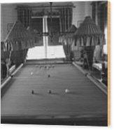 Snooker Room Wood Print
