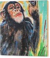 Snooty Monkey Wood Print