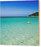 Snorkeling At Karon Beach Wood Print