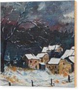 Snow 57 Wood Print