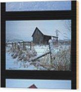 Snow And Barn Trio Wood Print