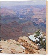 Snow And Canyon - Grand Canyon Wood Print