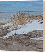 Snow And Sand Wood Print