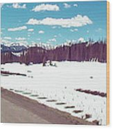 Snow And The Open Road Wood Print