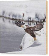 Snow Ballet Wood Print