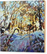 Snow Bank Wood Print