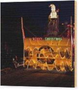 Snow Blower As Float In Shipshewana Light Parade Wood Print