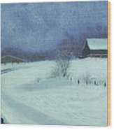 Snow Bound Wood Print by Garry McMichael