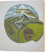 Snow Cap Resort Wood Print
