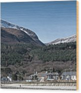 Snow Capped Mourne Mountains Wood Print