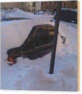 Snow Car Wood Print