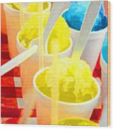 Snow Cones Wood Print