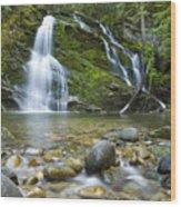 Snow Creek Falls Wood Print by Idaho Scenic Images Linda Lantzy
