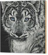 Snow Dragon Leopard Wood Print
