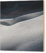 Snow Drift On The Beach Wood Print
