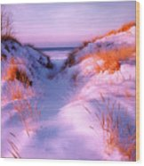 Snow Dune Wood Print
