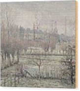 Snow Effect At Eragny Wood Print