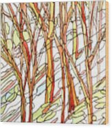 Snow Forest #1 Wood Print