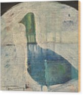 Snow Goose Wood Print