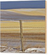 Snow Hills Saskatchewan Wood Print