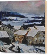 Snow In Ardennes 79 Wood Print