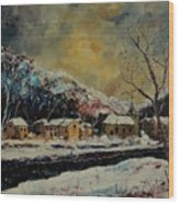 Snow In Bohan Wood Print