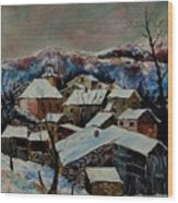 Snow In Laforet 78 Wood Print