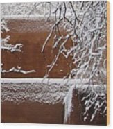 Snow In Santa Fe New Mexico Wood Print