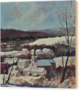Snow In Vittrival Wood Print