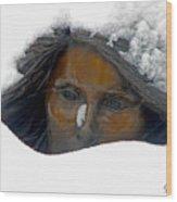 Snow Lady  Wood Print