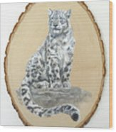Snow Leopard - Renewed Perception Wood Print