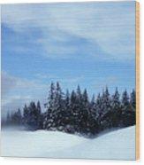 Snow Light Wood Print