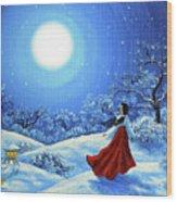 Snow Like Stars Wood Print