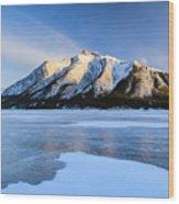 Snow Line Wood Print