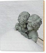Snow Love Wood Print