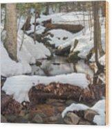 Snow Melt Wood Print