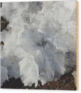 Snow Melting Shapes Wood Print