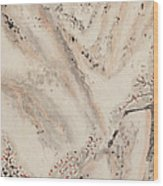 Snow Mountain Ink Painting Wood Print