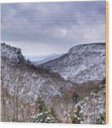 Snow On The Mesa Wood Print