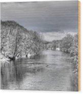 Snow On The Staunton Wood Print